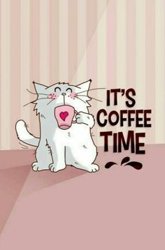 instant café avec mon chat / coffee time and cat ♥ instant coffee with my cat / coffee time and cat ♥ Coffee Girl, Coffee Is Life, I Love Coffee, My Coffee, Funny Coffee, Coffee Corner, Black Coffee, Poster Café, Good Morning Coffee