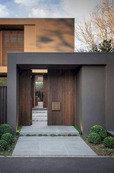 "inspiring residential architecture building for you 26 > Fieltro.Net""> 51 Inspiring Residential Architecture Building For You - Front Door Design, Entrance Design, House Entrance, Entrance Ideas, Entrance Doors, Design Exterior, Modern Exterior, Modern Entry, Modern Entrance"