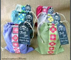 Favor Bags For Weddings & More with Renaissance Ribbons - designed for making a bunch at a time. Choose your colors make all your wedding favors in one weekend | Sew4Home