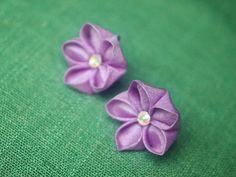 Vibrant violet kikyou chinese bellflower silk by GirLinKimono, £4.00