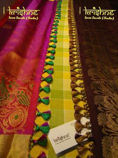 Saree Tassels Designs, Saree Kuchu Designs, Best Blouse Designs, Bridal Blouse Designs, Saree Accessories, Beaded Necklace Patterns, Saree Border, Designer Blouse Patterns, Manualidades