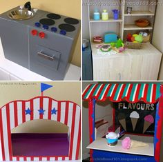 Dramatic Play Cardboard Box Project Round Up