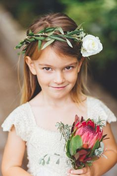 The sweetest flower girl: http://www.stylemepretty.com/destination-weddings/2014/09/22/rustic-chic-south-african-warehouse-wedding-at-blue-bird-garage/ | Photography: Illuminate Photography - http://illuminatephotography.co.za/