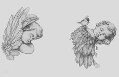 On the left shoulder blade - Tattoos Bild Tattoos, Dope Tattoos, Body Art Tattoos, Sleeve Tattoos, Small Tattoos, Tattoos Skull, Angle Tattoo, 42 Tattoo, Cupid Tattoo