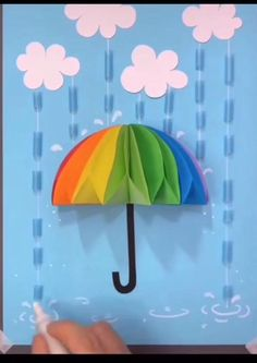 Rainy Day Crafts, Fall Crafts For Kids, Paper Crafts For Kids, Craft Activities For Kids, Preschool Crafts, Fun Crafts, Crafts For Children, Pasta Crafts, Spring Crafts