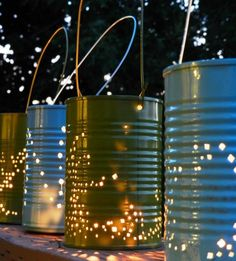 Fun Summer Nights Call for Tin Can Lanterns