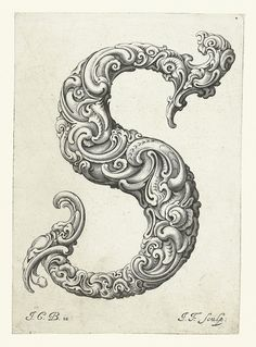 De S van Super, wow, wat is dit mooi! - An Alphabet of Organic Type (ca.1650) | The Public Domain Review