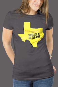 We're All In Softball T-Shirt Women's Slim Fit