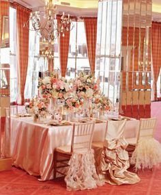 Chair Cover Rentals Findlay Ohio Predator Hunting 157 Best Wedding Flair Images Chairs Choose Pink And Gold For A Soft Color Combination Ruffled Covers To Make