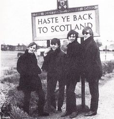 21st October 1964. The Beatles on the way to Glasgow during their mini-tour of Scotland.