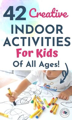 42 Creative Indoor Activities For Kids Of All Ages - Typically Topical Rainy Day Activities For Kids, Fun Indoor Activities, Games For Toddlers, Indoor Games, Sensory Activities, Kids Fun, Toddler Activities, Kids Boys, Boy Diy Crafts