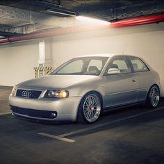 Audi A3 on BBS photo by #hiddenlucas - @Tracy Stewart Stewart Street Addicts- #webstagram