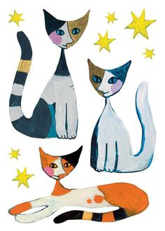 Coloriage Chat Rosina Wachtmeister.477 Fascinating Amazing Gatos Images In 2019 Cat Illustrations