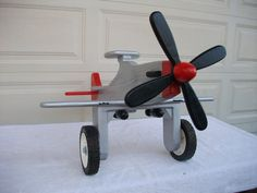 CHILD'S AIRPLANE -  Flying Mustang  #1204-03 #munire #pinparty #MadeintheUSA