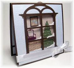 Window card. If I don't get the window die, this is a great idea.