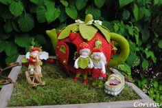 Viltcreaties Corina: Aardbeien theehuis!