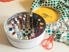 Upcycled Sewing Box from Cookie Tin Box