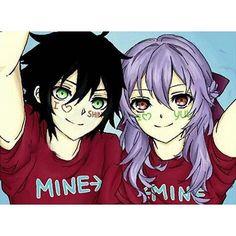 you x shinoa = cutest couple ever