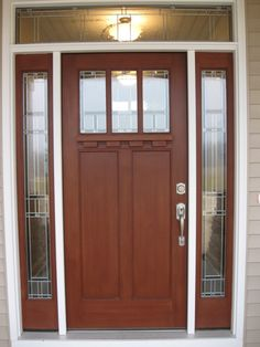 Malton Diamond Oak External Double Side Panel Door Set External