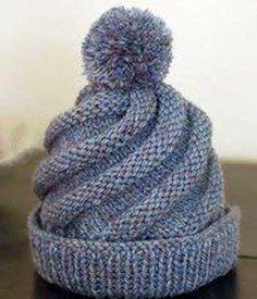 18 Ideas for crochet beanie spiral knit hats Crochet Beret Pattern, Beanie Knitting Patterns Free, Baby Hats Knitting, Crochet Beanie, Crochet Yarn, Crochet Blanket Patterns, Crochet Gifts, Crochet Motif, Knitted Hats