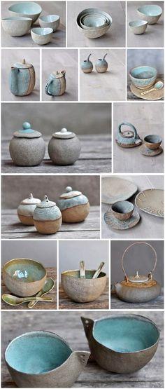 Ceramics by Ana Haberman Keramik von Ana Haberman Ceramic Clay, Ceramic Bowls, Ceramic Pottery, Pottery Art, Slab Pottery, Thrown Pottery, Glazed Pottery, Porcelain Ceramic, Pottery Wheel