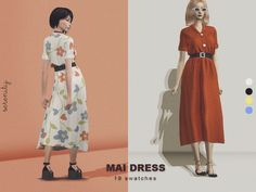 Mai Dress by Serenity for The Sims 4 Sims Four, Sims 4 Mm, Sims 4 Mods Clothes, Sims 4 Clothing, Sims 4 Gameplay, Sims4 Clothes, Sims 4 Dresses, Sims 4 Cc Packs, The Sims 4 Download