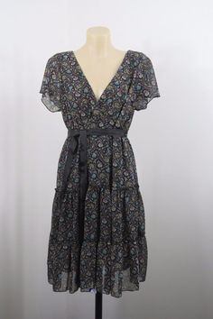 Size XL 16 Portmans Ladies Dress Floral Vintage Boho Chic Feminine Peasant HOT  #Portmans #Sundress #Casual
