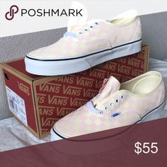 8df4f7c156 vans authentic checkerboard chalk pink lady6 men4.5 Vans Shoes Sneakers  Women s Vans