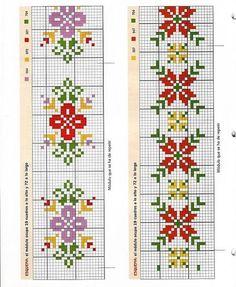 Cross Stitch Pillow, Cross Stitch Bookmarks, Cross Stitch Borders, Simple Cross Stitch, Cross Stitch Designs, Cross Stitching, Cross Stitch Embroidery, Cross Stitch Patterns, Armband Tutorial