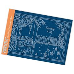 Gardening Clarity Stamps Hobbies /& Pastimes A5 Square Groovi Plate