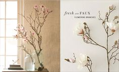 Fresh + Faux Flowering Branches