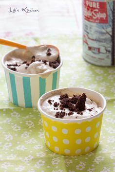 Crèmes glacées express banane et noisette