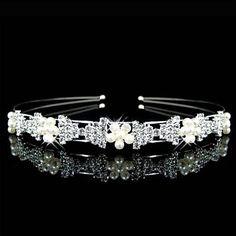 Gorgeous Rhinestone With Imitation Pearls Wedding Headband/ Headpiece