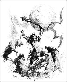 Sketch by Frank Frazetta