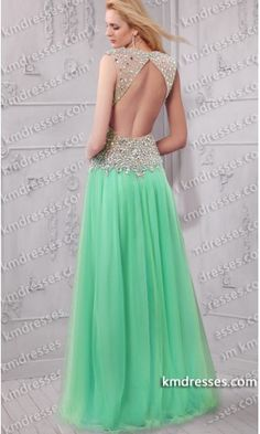 Elegant jeweled illusion dramatic open v-back flowy sheer skirt gown .prom dresses,formal dresses,ball gown,homecoming dresses,party dress,evening dresses,sequin dresses,cocktail dresses,graduation dresses,formal gowns,prom gown,evening gown.