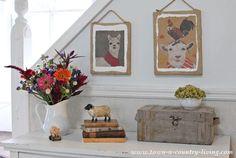 DIY Farm Animal Paper Bag Wall Art
