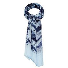 Sandwich Clothing Blue Sky Printed Scarf - Blue