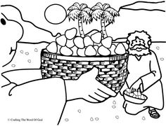 Manna From Heaven (Coloring Page) Coloring pages are a great way to end a Sunday School lesson. They can serve as a great take home activity. Or sometimes you just need to fill in those last five m...
