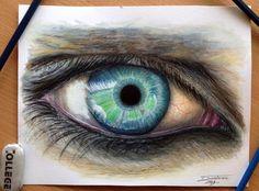 Hyperrealistic Color Pencil Drawings of Eyes