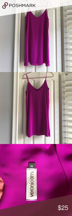 Fuchsia Veronicam slip dress. Worn a couple times Fuchsia Veronicam slip dress. Worn a couple times Dresses