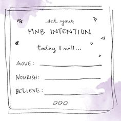 Set your daily MNB Intention this October with Lorna Jane Clarkson - Move Nourish Believe