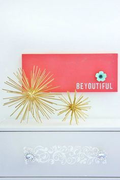 Simple DIY Artwork! BeYOUtiful! So easy to do!