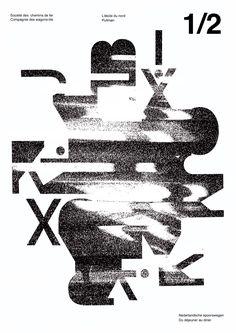"""abstr-akts: """" Studio project, ECAL 2014 — by 1CV — Réalisation de 3 affiches à partir d'une autre affiche existante. """""""