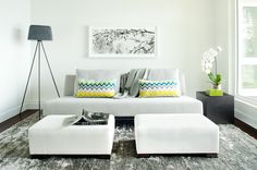 Contemporary Family Room by Kelly Deck Design