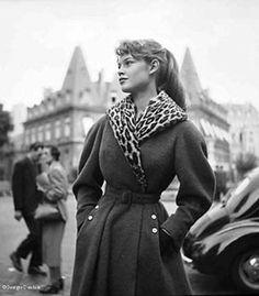 Brigite Bardot, Place François, Paris, 1951.