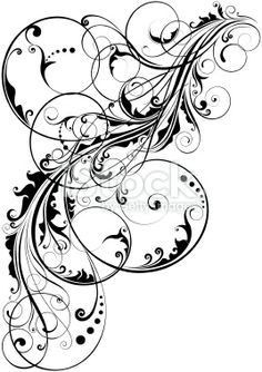 Swirl floral element Royalty Free Stock Vector Art Illustration