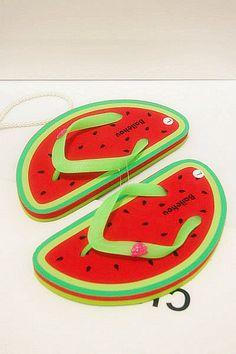 175e882f951810 2013 summer sweet women s slippers big feet watermelon fruit shape women s  shoes flat heel flip flops