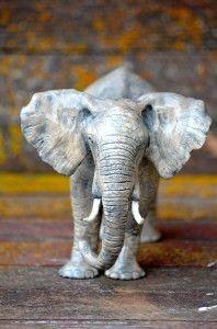 Clay Elephant Sculpture by Teresa Perleberg