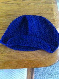 Beanie with brim for sale