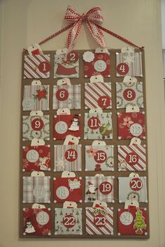 christmas diy advent calendar | Christmas Craft - DIY Advent-ure Calendar, ... | Celebrate It! - Chri ...
